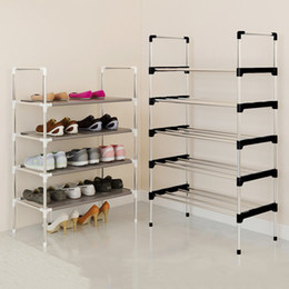 Red Living Room Furniture NZ - Modern Minimalist Organizer Home Furniture Cabinet Assembly Closet Foldable Creative Multi-purpose Shoes Shelf Q190605