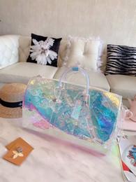 $enCountryForm.capitalKeyWord UK - 2019 brand fashion luxury designer bags 19SS PVC laser colorful prism keepall 50 luggage mens womens designer handbags purses duffle bag