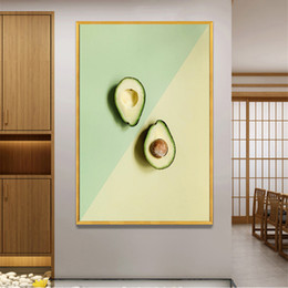 AbstrAct pAinting Art for kitchen online shopping - Avocado Poster Fruit Print Vegetable Wall Art Home Artwork Nordic Modern Decoration Canvas Pictures for Kitchen Decor