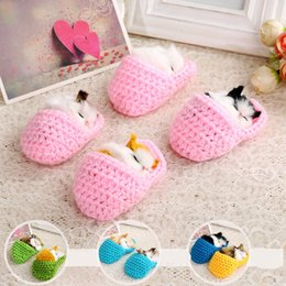 Christmas Gift Shoes Australia - Simulation Kittens Doll Sounding Shoes Cats Plush Toys Furnishing Articles Animals Super Cute Birthday Gift 4 95xd F1