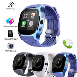 Bluetooth Smart Watch Sim Australia - For apple iPhone android T8 Bluetooth Smart watch Pedometer SIM TF Card With Camera Sync Call Message Smartwatch pk DZ09 U8 Q18 fitbit