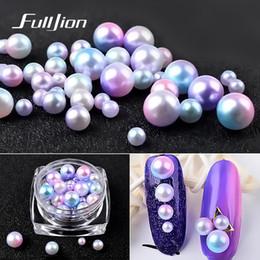 $enCountryForm.capitalKeyWord Australia - Fulljion 1Box Magic Mermaid Pearls 3D Nail Art Decorations Mixed Size Gradient Beads Nail Rhinestones Accessories Charm Jewelry