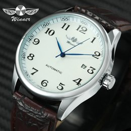 $enCountryForm.capitalKeyWord Australia - Fashion Business Men Automatic Wrist Watches Leather Strap Male Mechanical Watches Calendar Date Clock Montre Homme +gift Box J190614