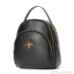 Bayan Daypack Mini Sırt Çantası Hakiki Deri Omuz Çantası Çanta Kız Tasarımcı Hafif Telefon Çantaları 3 Yollu Taşıma