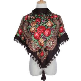 $enCountryForm.capitalKeyWord Australia - Luxury Winter Cotton Wrap Women Designer Scarves High Quality Turban Print Scarf Fringe Tassel Square Shawl Scarf Special Offer