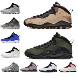 Bowling Shoes For Men Australia - Cheaper New 10 10s Camo Basketball Shoes For Men black Cement Westbrook Dark Smoke Grey Designer Trainers Sport Sneakers US 7-13