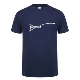 Yellow Color Guitar UK - Summer New Ibanez T Shirt Men Cotton O-neck Short Sleeve T Shirts Ibanez Guitar Logo Mans T-shirts Tee Os-122 Y19050701