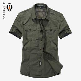 $enCountryForm.capitalKeyWord Australia - 2018 Summer Military Style Men Casual Shirts Spring High Quality Cotton Solid Shirt Classic Design Breathable Brand Dress Shirts