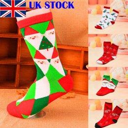 Knitted ornaments online shopping - Christmas Socks Women Men Adults Gift Warm Winter Santa Claus Deer Xmas Gift Christmas Stockings Knit Elk Santa Claus Pattern