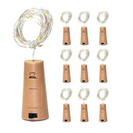$enCountryForm.capitalKeyWord NZ - Included Batteries 1M 10LED 2M 20LED Wine Bottle Cork String Led Light Waterproof Starry Lamps for Christmas Party Wedding Decorations