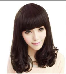 $enCountryForm.capitalKeyWord Australia - WIG LL<<< 003249 Medium Wig Dark brown Pear Flower Hair Women Cosplay Wig Women's Hair synthetic Wigs