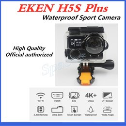 touchscreen hdmi UK - 3pcs Original EKEN H5S plus Waterproof DV EIS Native 4K Ultra HD Sports Camera WIFI HDMI 170 Wide Angle 2.4G Remote Multi-language