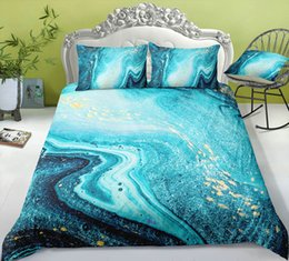 3d Bedding Set White Rose Australia - Thumbedding Dropship Ocean Water Bedding Sets Marble Pattern Fashionable Design Twin Full Queen King 3D Duvet Cover Set Colorful Bed Set