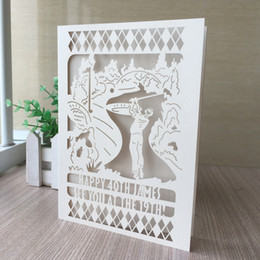 Wholesale 100PCS Play Golf Pattern The Private Ordering Wedding Invitation Cards Birthday Party Various Colors Supplies
