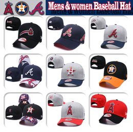 AtlAntA brAve hAts online shopping - Mens women Houston Los Angeles Atlanta High quality knit Baseball cap Astros Angels Braves Baseball Hat