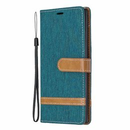 $enCountryForm.capitalKeyWord UK - Canvas Leather Wallet Case For Samsung Note 10 Pro For Huawei P20 Lite 2019 Jean Hybrid Hit Color Cloth Magnetic Flip Cover Lanyard Pouch