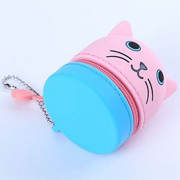 ancient coins NZ - Cute Coin Purse Key Wallet Mini Storage Bag Earphone Cartoon Case For Children Women Small Lovely Zipper Pocket Bag hot