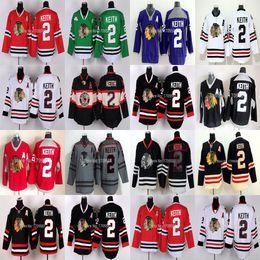 7175f255342 2017 Chicago Blackhawks  2 Duncan Keith Jersey Stadium Series Keith Winter  Classic Jerseys Skull Black Ice Charcoal Cross Check