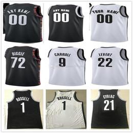 17802e7fa Men s 19 20 Custom Printed BrooklynNetsJerseys Top Quality 2019 2020 New  White Black men Soccer cheap Jersey football shirts size S-XXL