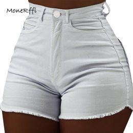 Wholesale womens denim shorts resale online - Monerffi Women s Denim Shorts Womens Clothes High Waist Jeans Summer Slim Fashionable Short Trousers Pantalon Corto Cintura High MX190712