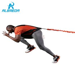 Gym rope pullinG online shopping - ALBREDA new arrival Gym Leg Explosive force training belt Jump resistance Trainer lbs tension Fitness equipment