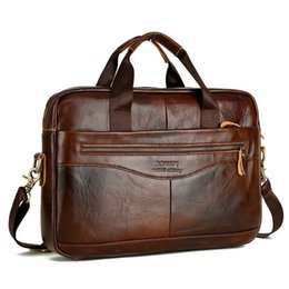 High Quality Leather Mens Business Bag Australia - Cowhide Leather Briefcase Mens Genuine Leather Handbags Crossbody Bags Men's High Quality Business Messenger Bags Laptop