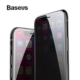 screen protector spy 2019 - Baseus Anti Spy Screen Protector For Iphone X 0.3mm Full Coverage 9h Tempered Glass For Iphone X Protective Glass Film J