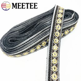 $enCountryForm.capitalKeyWord Australia - Mirror Embroidered Lace Trims Fabric Shoes Dress Decorative Webbing Ribbons For Stage Clothing DIY Sewing Accessories