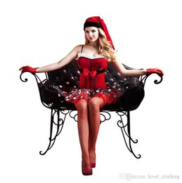 santa costume lingerie 2019 - New European and American sex lingerie red Christmas costumes holiday fun uniforms temptation foreign trade cross-border