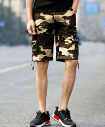 Discount mens fashion combat trousers - 2019 New trendy camouflage high waist fashion Mens Cargo Shorts Pants Casual Army Combat Camo Summer Camping Trousers Bo
