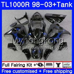 29 r NZ - +Tank blue flames hot For SUZUKI SRAD TL 1000 R TL1000R 98 99 00 01 02 03 304HM.29 TL1000 R TL 1000R 1998 1999 2000 2001 2002 2003 Fairings