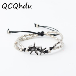 Runes jewelRy online shopping - 1PC New Fashion Retro Bohemia Rune Starfish Anklet Beach Feet Jewelry Simple Pull Beads Anklet Bracelet for Women