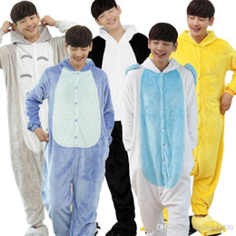 c0cf9739ef47 Men Flannel Animal Pyjamas Warm Hooded Full Sleeve Sleep Lounge Onesies  Adult Anime Pajamas Sets Stitch Panda Unicorn Pajamas