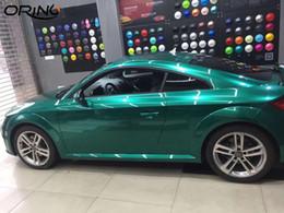 $enCountryForm.capitalKeyWord Australia - Ultra Glossy Metal Emerald Green Gloss Metallic Vinyl Wrap For Car Wrap Foil DIY Styling With Air Bubble Free 1.52*20M Roll 5x65ft