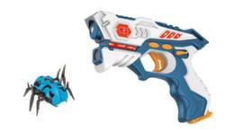 $enCountryForm.capitalKeyWord Australia - New infrared laser tag toy gun versus gunshot light indoor and outdoor game gift set Children gift Kids Multiplayer-1gun+1robot spider