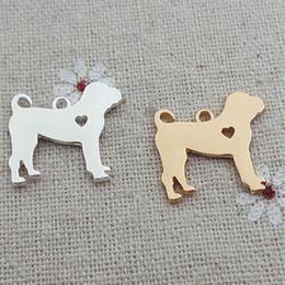 Gold Bull Pendant Australia - 20pcs 18*19MM Metal 18K gold and silver Bull Mastiff Bull dog charms pet animal pendant for bracelet necklace earrings jewelry making Diy