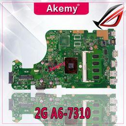 Discount test mainboard - Akemy X555YA motherboard 2G A6-7310 For ASUS X555DG X555YA X555Y laptop motherboard mainboard X555Yi test ok
