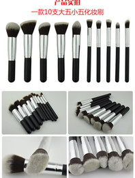 $enCountryForm.capitalKeyWord Australia - 10pcs makeup brushes ,Powder brush ,10 functiion design 4 design ,A,B,C,D style PP bag pack