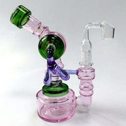 $enCountryForm.capitalKeyWord UK - Hot Sale Unique Heady Glass Water Pipe Inline Perc Dab Rig Sidecar Glass Bongs Robot Fumed Hanger Oil Rig 14mm Female Joint Oil Dab Rigs