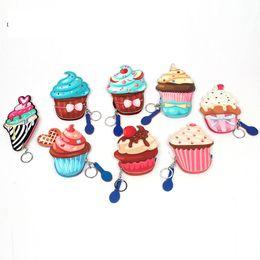 $enCountryForm.capitalKeyWord Australia - 5PCS Cartoon Cute Coin Purse Women Kids Small Zero Wallet Bag Zipper Kawaii cake ice cream Money Card Holder Girls Purses Change