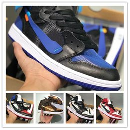 Discount b mat - Mens 1 high OG basketball shoes 1s NRG igloo banned chameleon shadow elephant print Chicago royal Track sneakrs trainers