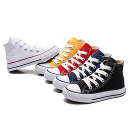 canvas shoes for toddlers Australia - Kids Shoes For Girl Baby Sneakers 2020 Spring Fashion High - low Toe Canvas Toddler Boy Shoes Children Classical Girls Canvas Shoes