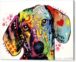 Art Canvas Prints Australia - Oil painting dachshund Unframed Modern Canvas Wall Art for Home and Office Decoration, Animal ,canvas-print