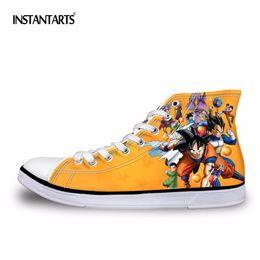 bcc6a1136df2c Fashion dragon ball Anime Z printing for men high vulcanized shoes shoes  Super Super Saiyan Goku za