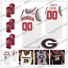 basketball jersey numbers Australia - Georgia Bulldogs Custom Any Name Number Stitched Red Black White UGA Ogbeide Crump Retro #24 Connor O'Neill NCAA Basketball Jersey