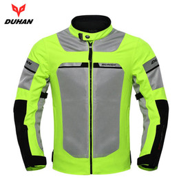 $enCountryForm.capitalKeyWord Australia - DUHAN Motorcycle Jacket Motorbike Reflective Racing Jackets Summer Mesh Breathable Moto Clothing Black And Green ,D-133