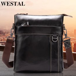 $enCountryForm.capitalKeyWord Australia - Westal Genuine Leather Messenger Bag Men's Shoulder Bag Genuine Leather Men's Small Casual Flap Male Crossbody Bags For Men 9010 Y190701