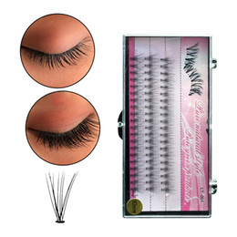 Individual False Eyelashes 14mm Australia - 60pcs Makeup Individual Eyelashes Extension 6 8 9 10 11 12 14mm Eye Lashes Fake False Eyelash Extension
