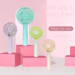 Fans Work Australia - Portable Handheld Mini Fan Rechargeable USB Fan Vertical And Foldable Cooler Fans Air Conditioner Cooling Electric Fan For Home Office Work