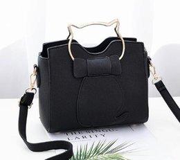 Discount korean bow bags - hot new Korean version of women's handbags cartoon girl small satchel students bow single shoulder bag elegant